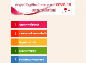 ข้อมูลสำคัญเกี่ยวกับสถานการณ์ COVID-19 ของจังหวัดปราจีนบุรี